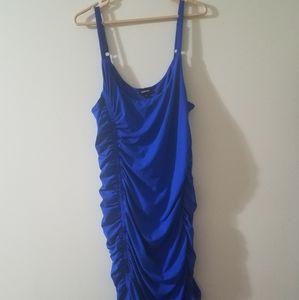 Electric Blue Knit Body con Dress